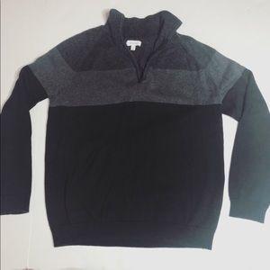 CALVIN KLEIN 1/4 Zip Pullover Sweater striped
